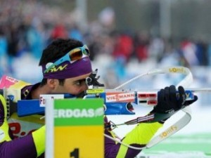 Французский биатлонист выиграл третье золото ЧМ-2012
