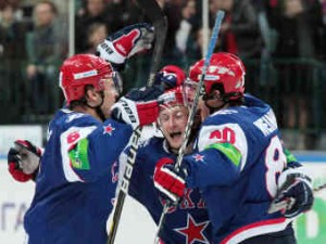СКА забросил семь шайб в матче плей-офф КХЛ