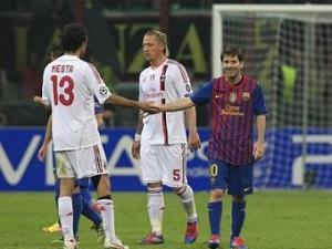 «Милан» и «Барселона» сыграли вничью в Лиге Чемпионов