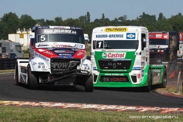 Французский этап гонок грузовиков стал призовым для новичков