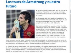 Болельщики «Реала» сравнили Лионеля Месси с Лэнсом Армстронгом