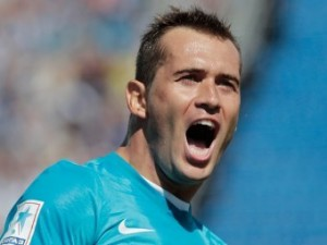 Кержаков принес «Зениту» победу в матче Лиги чемпионов