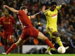 «Анжи» проиграл «Ливерпулю» в Лиге Европы