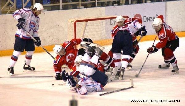 Смоленские хоккеисты прошлись по «Прогрессу»