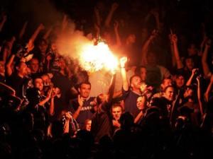 В Париже арестованы 80 фанатов загребского «Динамо»
