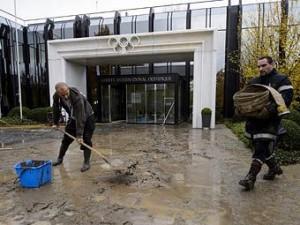 В Лозанне затопило архив Олимпийского комитета