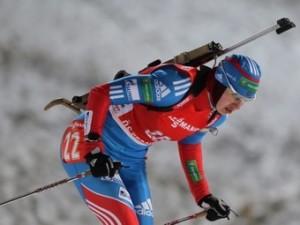 Биатлонистка Ольга Вилухина заняла третье место в спринте