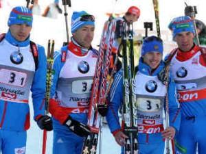 Российские биатлонисты стали третьими в эстафетах на этапе Кубка мира