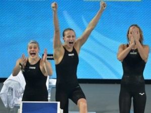 Россиянки стали вторыми в эстафете на «короткой воде»