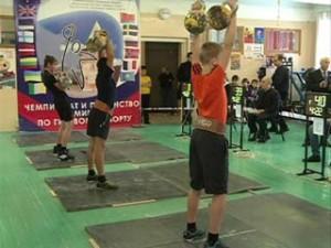 В Смоленске прошел открытый чемпионат области по гиревому спорту