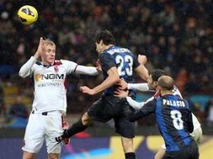 Забитый на последней минуте гол вывел «Интер» в полуфинал Кубка Италии