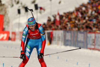 Российские биатлонистки взяли серебро в эстафете