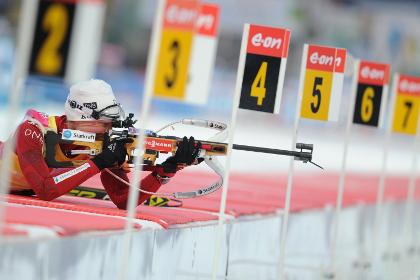 Тура Бергер выиграла гонку преследования на чемпионате мира по биатлону