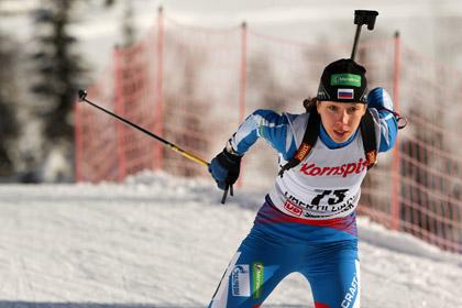 Российская биатлонистка стала четырехкратной чемпионкой мира среди юниоров