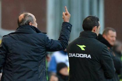 Тренера итальянского клуба дисквалифицировали за оскорбление игрока