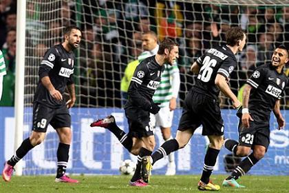 «Ювентус» обыграл «Селтик» в 1/8 финала Лиги чемпионов