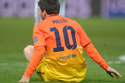 Месси признали худшим игроком матча с «Миланом»