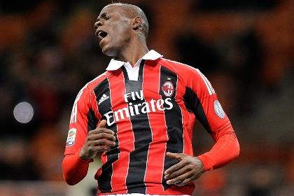 Балотелли оформил дубль в первом матче за «Милан»