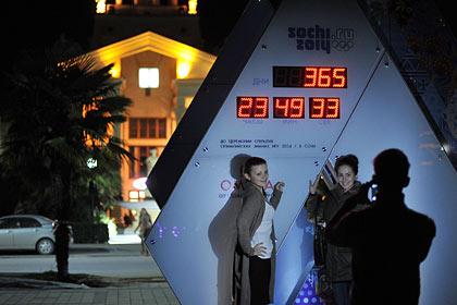 В Москве запустили часы с отсчетом времени до старта Олимпиады в Сочи