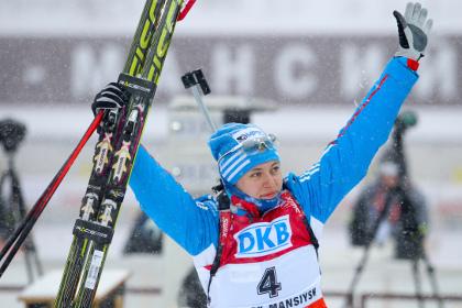 Россияне выиграли серебро на этапе Кубка мира по биатлону