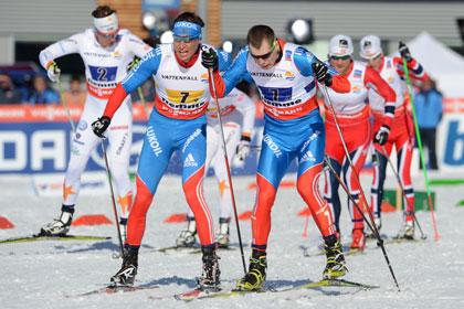Российские лыжники выиграли медали ЧМ в эстафете