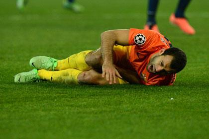 Футболист «Барселоны» получил травму в столкновении с одноклубником