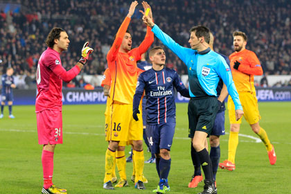 «Барселона» пожаловалась на судейство в игре Лиги чемпионов