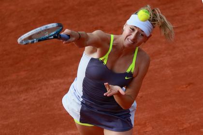 Мария Шарапова прошла во второй круг «Ролан Гаррос»