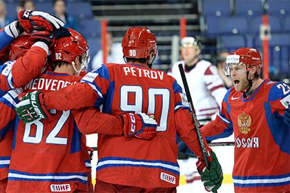 Сборная России начала ЧМ по хоккею с разгрома Латвии