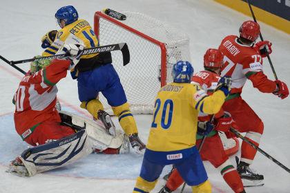 Шведские хоккеисты обыграли белорусов на ЧМ