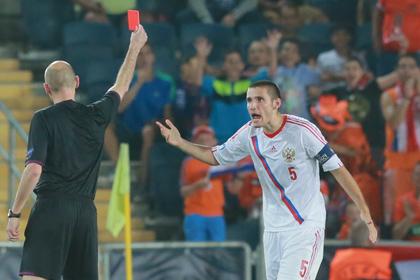 Российский футболист пожаловался на плохое судейство на молодежном ЧЕ
