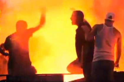 Израильские футбольные фанаты подрались с полицией возле дома Гайдамака