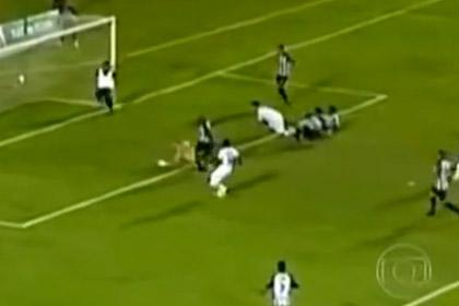 Выбежавший на поле массажист спас бразильскую команду от гола