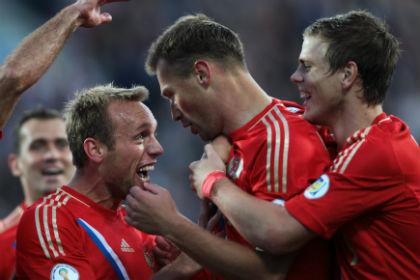 Сборная России забила три мяча Израилю в отборочном матче ЧМ-2014