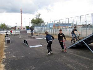Жители Гагарина заработали себе скейт-парк на осеннем пробеге