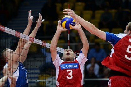 Российские волейболисты выиграли у сборной Чехии
