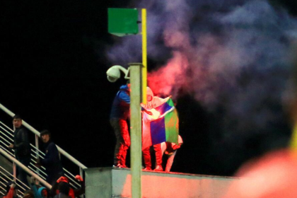 «Анжи» потребует наказать фанатов «Кубани» за сожженный флаг Дагестана
