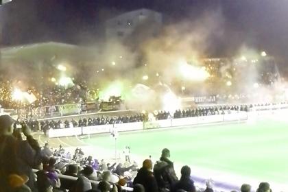 Кубковый матч «Шинник» — «Спартак» прервали из-за фанатов
