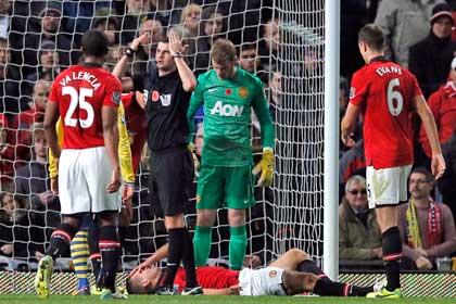 Защитник «Манчестер Юнайтед» попал в больницу после игры с «Арсеналом»