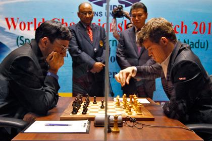 Четвертая партия матча Ананд — Карлсен завершилась вничью