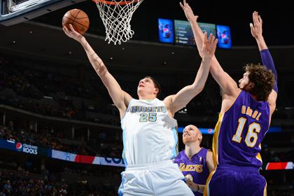 Мозгов во второй раз в карьере набрал 23 очка в матче НБА