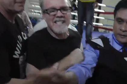 Тренер Пакиао подрался с тренером американского боксера
