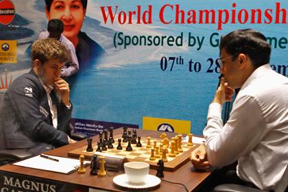 Восьмая партия матча Ананд — Карлсен завершилась вничью