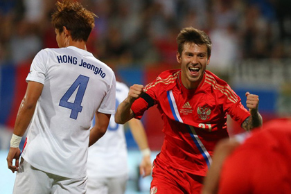 Сборная России по футболу обыграла корейцев