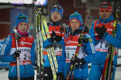 Российские биатлонисты финишировали шестыми на первой гонке Кубка мира