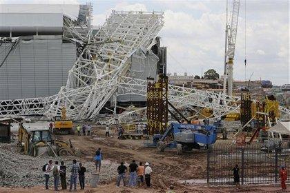 В Сан-Паулу частично обрушился стадион открытия ЧМ-2014