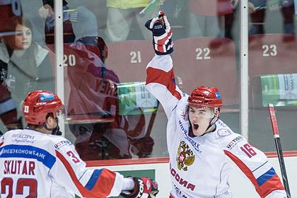 Молодежная сборная России по хоккею победила канадцев