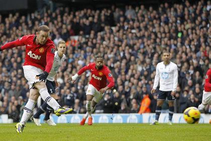 Руни спас «Манчестер Юнайтед» от поражения в матче с «Тоттенхэмом»