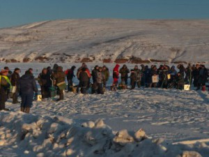 На Десногорском водохранилище рыбаки устроят «Ледовое побоище»