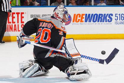 Евгений Набоков впервые в сезоне сыграл «на ноль» в матче НХЛ